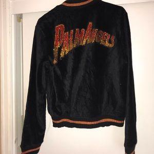 PALM ANGELS VVS rhinestone flames jacket